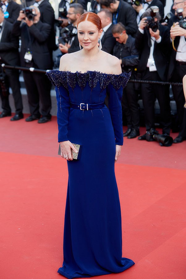 Barbara Meier in Alexis Mabille Couture