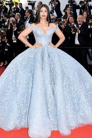 Cannes Aishwarya Rai Bachcha in a Michael Cinco