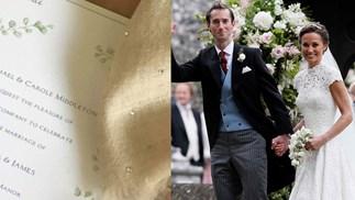 Pippa Middleton and James Matthews Wedding Invitation