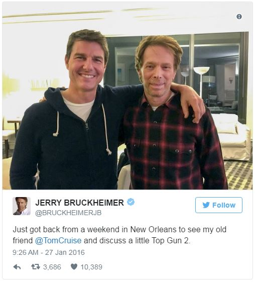 Tom Cruise confirms Top Gun 2 is happening!