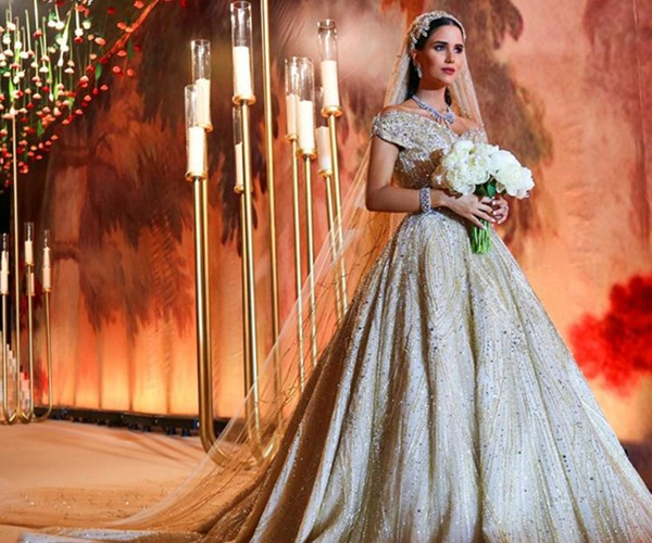 Most extravagant wedding gowns