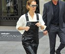 Of Course Céline Dion Wore Leather Givenchy Overalls