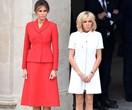 What Brigitte Macron And Melania Trump Wore During Their Parisian Meet-Up