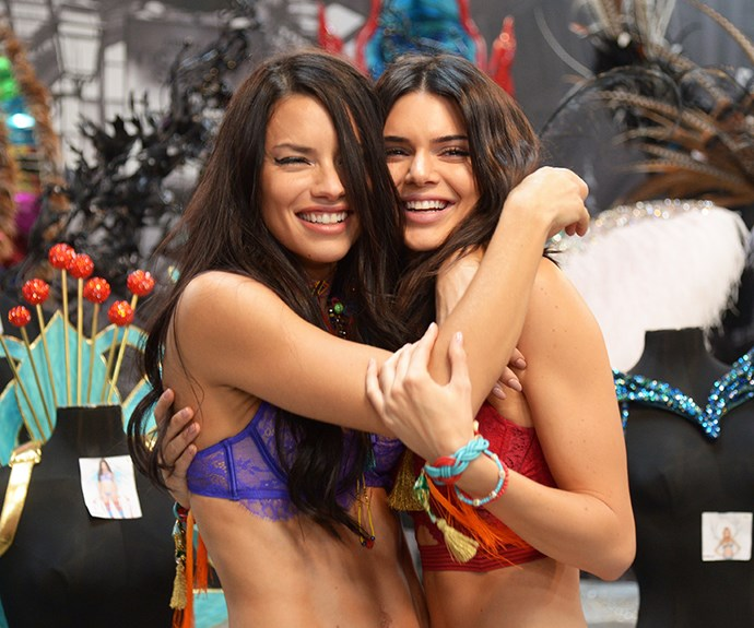Adriana Lima and Kendall Jenner.