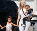 Kim Kardashian Has Two Back-To-Back Stylish Mum Moments
