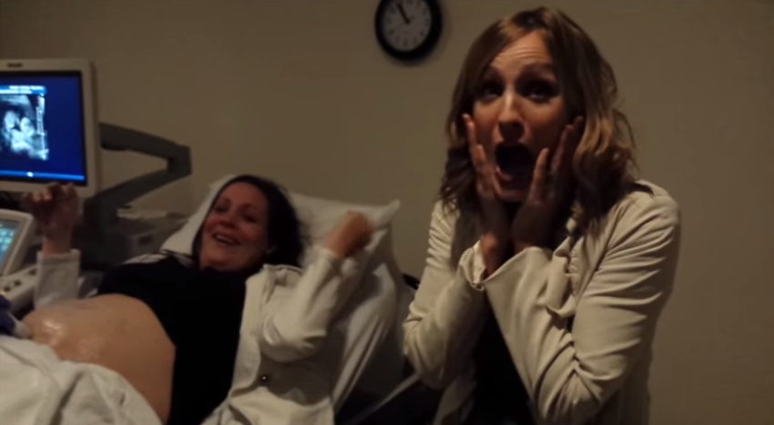 Aunt-to-be has the BEST reaction when she learns her sister is having twins