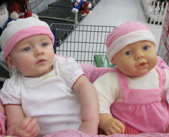 15 Babies Who Look Just Like Their Dolls