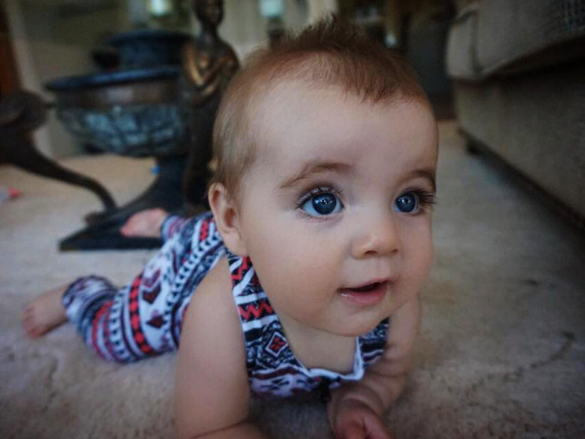 Fortafy's daughter has become the cutest baby on facebook