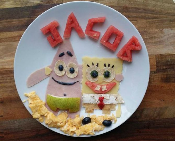 Mum Creates Amazing Instagram Cartoon Meals At Jacob's Food Diaries