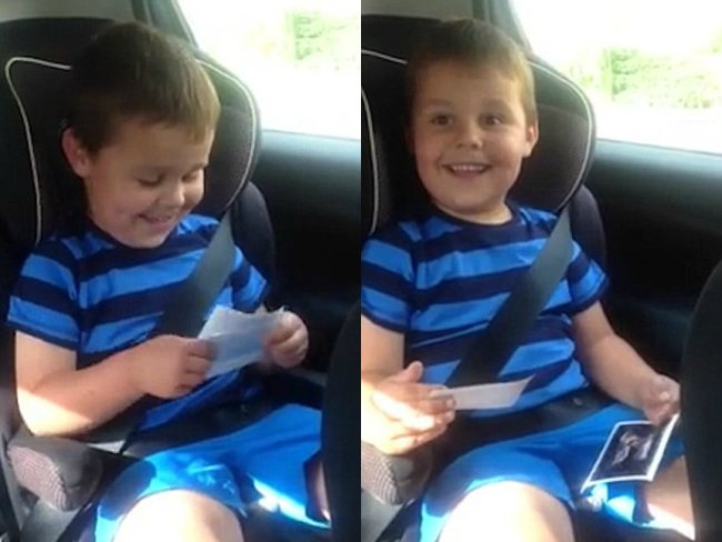 VIDEO: English Boy Has Adorable Reaction When He Finds Out He'll Be A Big Brother