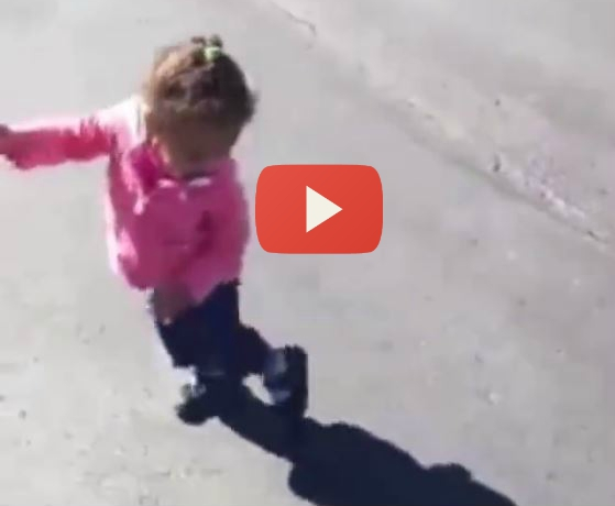 VIDEO: Little Girl Freaks Out At Her Own Shadow