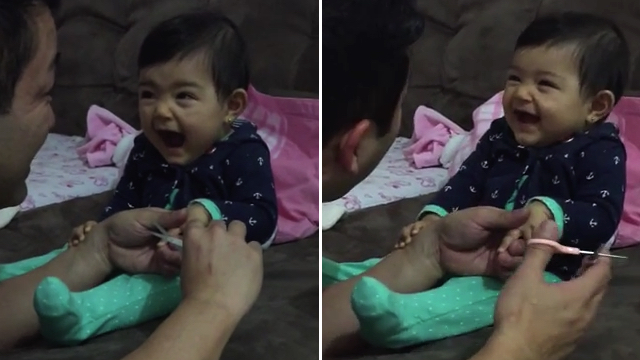 Baby Girl Pranks Father in Adorable Video