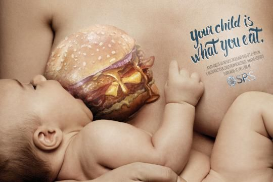 "Brazillian Breastfeeding Campaign ""Your Child Is What You Eat"" Causes Concern From Experts"