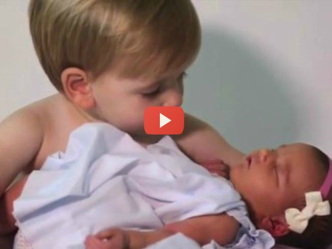WATCH: Six Brothers Welcome Their First Sister