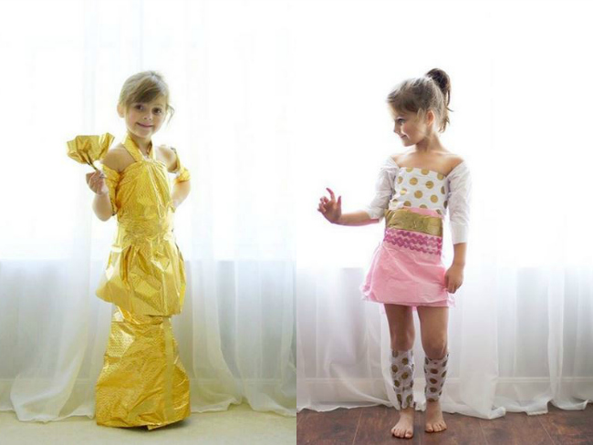 Mum And Daughter Create Amazing Paper Dresses