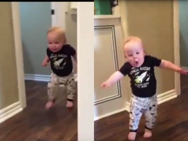 Video: Toddler's Brilliant Reaction To Grandpa's Roar