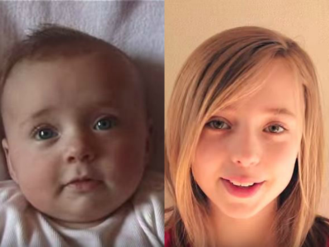 Time Lapse Video Documents Girl Ageing from Baby to Teen