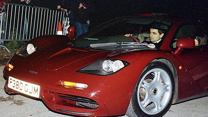 Rowan Atkinson Crashes Mclaren F1 Wheels