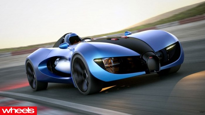 wheels magazine, Bugatti's electric concept car