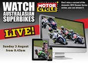 Watch Australasian Superbikes LIVE! Sunday 3 August