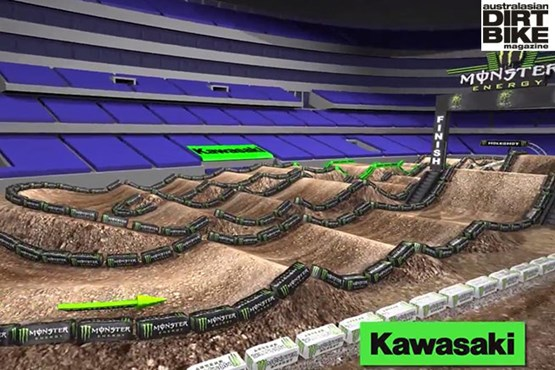 Sneak peek of the Arlington Track for Rd7 of AMA SX