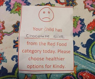 Mother shamed by kindy for packing chocolate slice in lunchbox