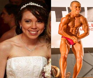 How a blushing bride transformed into a male bodybuilder