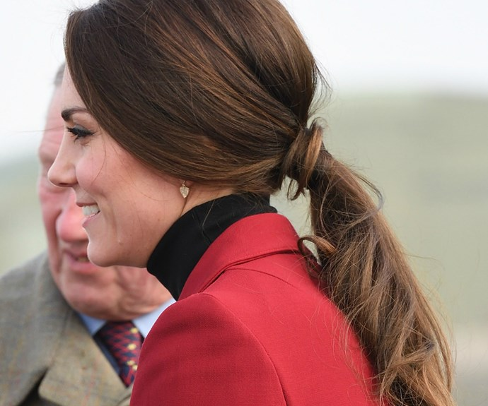 It's the little things... Kate even opted for heart-shaped earrings for the Valentine's Day engagement.