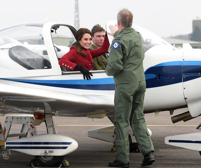 We're sure Prince William, a former pilot, was very pleased with his wife visit to the RAF.