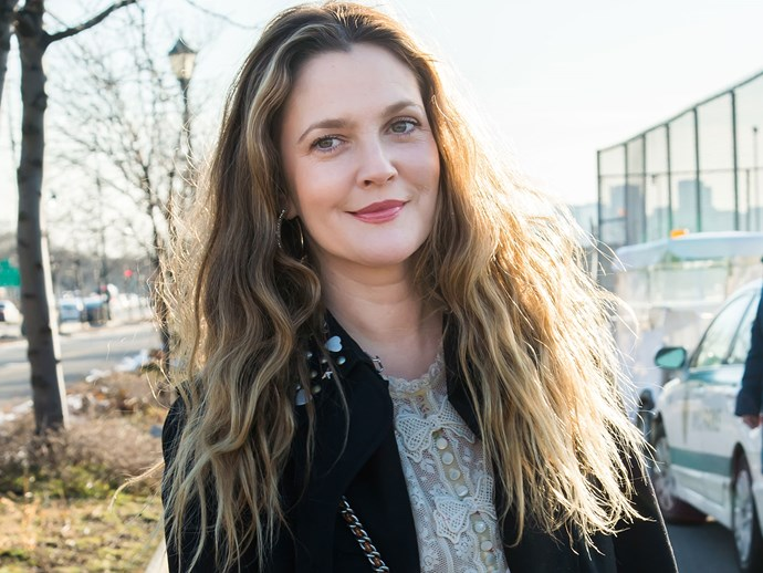 Drew Barrymore's makeup routine for busy mums