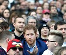 Prince Harry surprises rugby fans at England's open training session