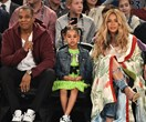 Blue Ivy telling Beyonce a secret at the basketball is the cutest thing you'll see all day