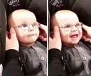 Good luck trying not to cry as this baby sees his mum for the first time