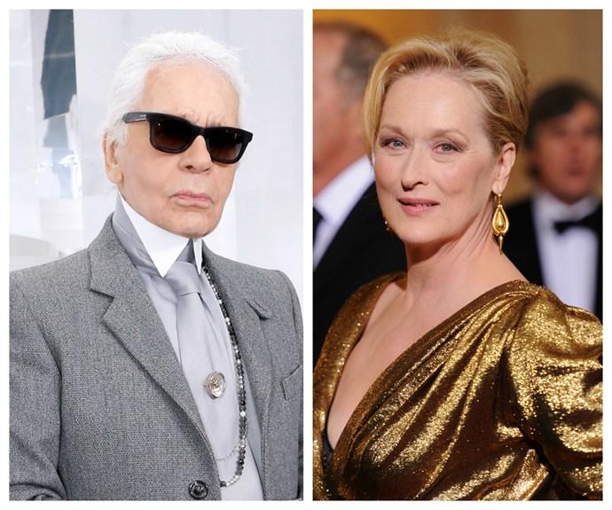 Karl Lagerfeld,  Meryl Streep