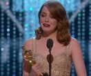 Golden girl! Emma Stone wins Best Actress Oscar for La La Land