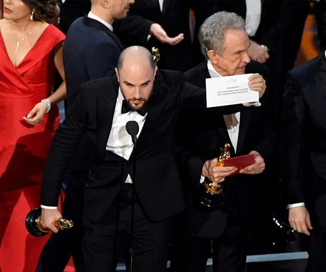 Major controversy at Oscars as wrong film awarded Best Picture by mistake