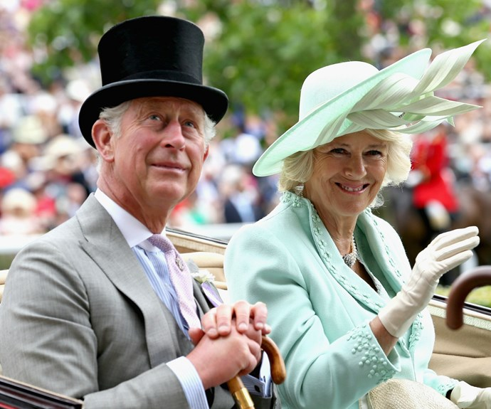 [Camilla, Duchess of Cornwall](http://www.nowtolove.com.au/royals/british-royal-family/prince-charles-and-camilla-announce-new-royal-tour-35716) wore a mint green design by Fiona Clare to Royal Ascot in 2014.