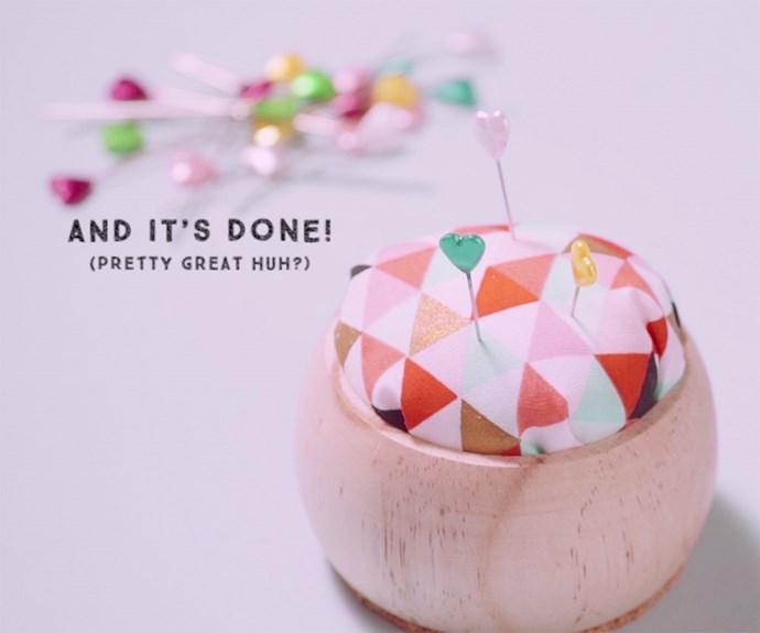 DIY bangle pincushion