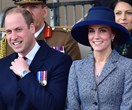 The Duke and Duchess of Cambridge support the Queen at a war memorial unveiling