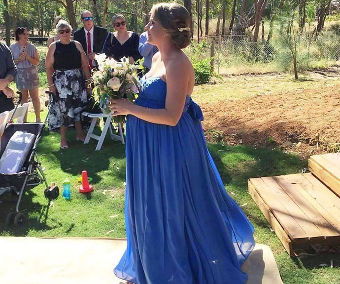Wedding to remember: Maid-of-honour goes into labour walking down the aisle