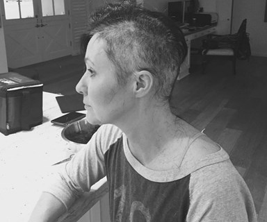 Laughing through tears: Shannen Doherty shares the emotional moment she shaved her head
