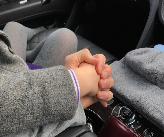 """David Beckham took to Instagram to post this beyond adorable picture of himself and his five-year-old daughter, Harper. The 41-year-old captioned the image, a closeup of their hands clenched sweetly on the way to school, saying: """"Everyone needs a little love and comfort in the mornings."""" Did your heart just break? Us too."""