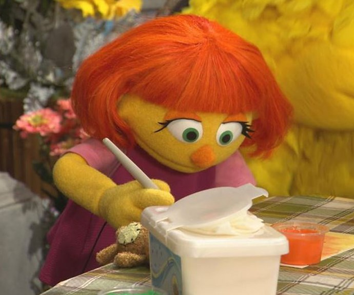 Sesame Street's first autistic character, Julia