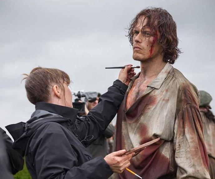 Sam Heughan as Jamie Fraser in Outlander