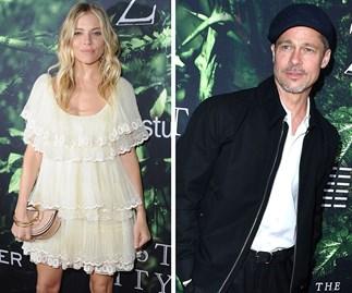 Brad Pitt and Sienna Miller