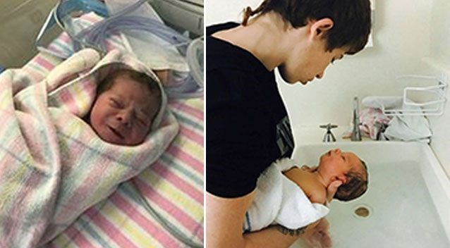 Jayden's mother Tracy shared these images of baby Aria on Facebook.
