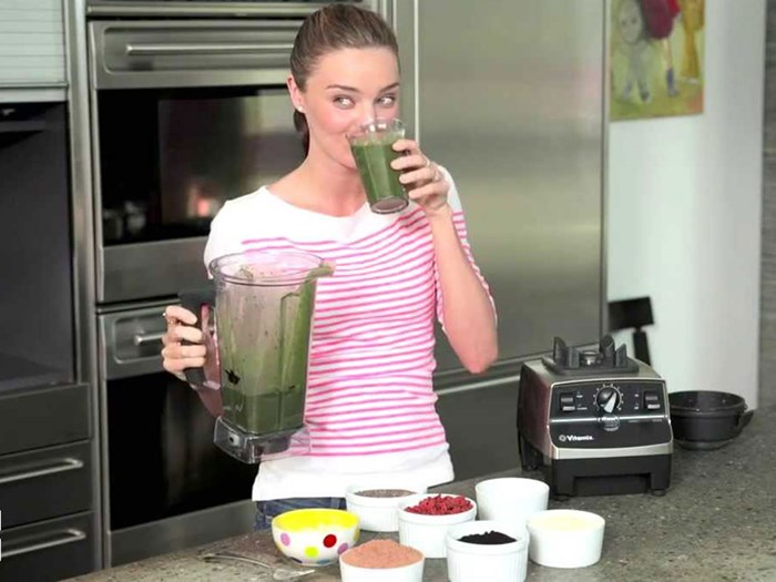 Miranda Kerr vegetarian green smoothie