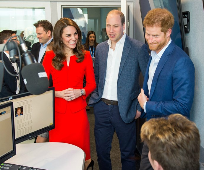 The visit to the school was the latest in a long series designed to promote the royal trio's mental health initiative, Heads Together.