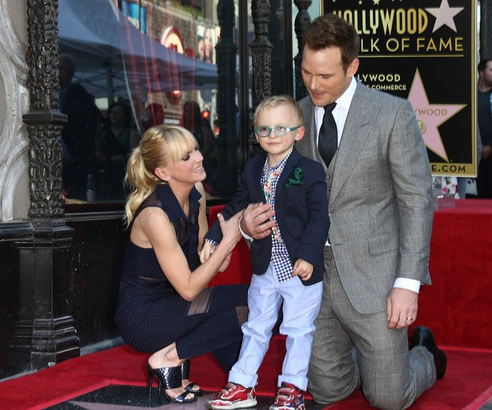 Chris, wife Anna Faris and little Jack were absolutely beaming with pride at the momentous occasion!