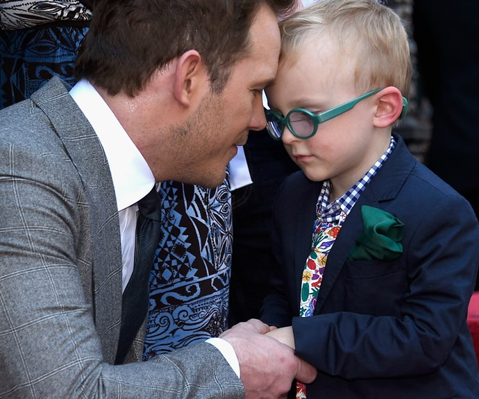 """Chris Pratt is officially a member of the Hollywood Walk of Fame and his adorable son, Jack, was out in full force to celebrate his incredible achievement! In preparation for the big day, Chris told his four-year-old son, """"It's important for us to [make sure] no boogers are hanging out of our noses."""" Click through to see more:"""